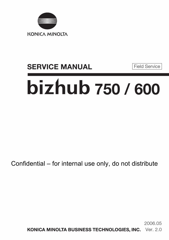 Service manual konica minolta c451